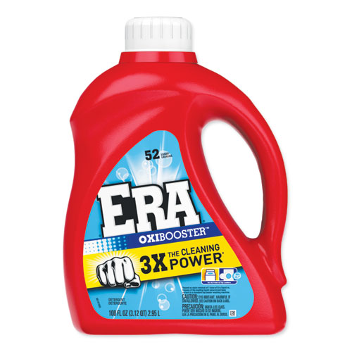Era® Oxi Booster Liquid Laundry Detergent, Original, 100oz Bottle, 4/Carton