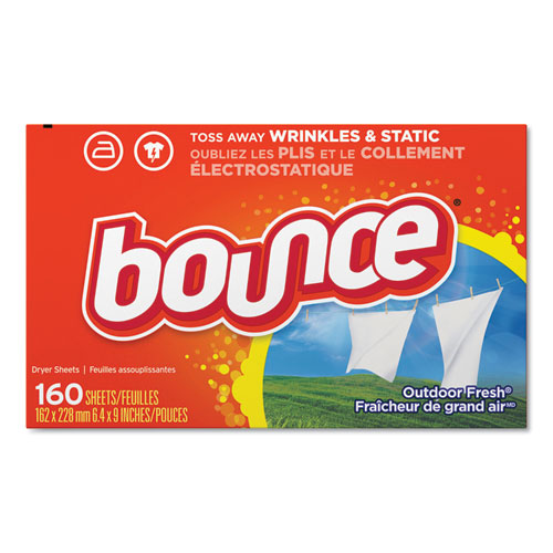 Bounce® Fabric Softener Sheets, 160 Sheets/Box, 6 Boxes/Carton
