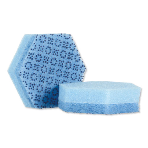 Low Scratch Scour Sponge 3000HEX, 4.45 x 3.85, Blue, 16/Carton