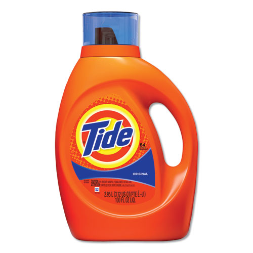 Tide® HE Laundry Detergent, Original Scent, Liquid, 100oz Bottle, 4/Carton