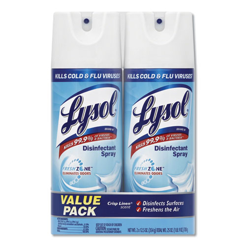 LYSOL® Brand Disinfectant Spray, Spring Waterfall Scent, 12.5 oz Aerosol Spray