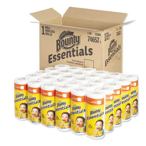 Bounty® Essentials Kitchen Roll Paper Towels, 2-Ply, 11 x 10.2, 40 Sheets/Roll, 30 Rolls/Carton