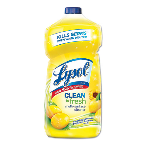 Clean and Fresh Multi-Surface Cleaner, Sparkling Lemon and Sunflower Essence, 40 oz Bottle, 9/Carton