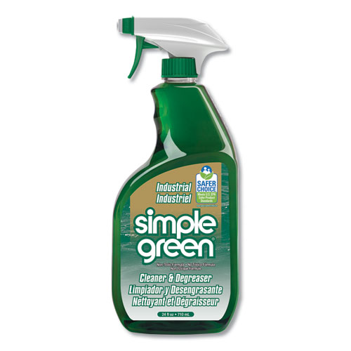 Simple Green® Industrial Cleaner and Degreaser, Concentrated, 24 oz Spray Bottle, 12/Carton