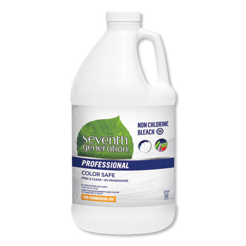 Non Chlorine Bleach, Free and Clear, 21 Loads, 64 oz Bottle, 6/Carton
