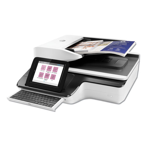 HP ScanJet Enterprise Flow N9120 fn2 Document Scanner, 600 dpi Optical Resolution, 200-Sheet Duplex Auto Document Feeder