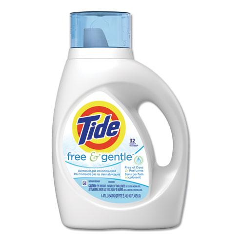 Tide® Free & Gentle Laundry Detergent, 50oz Bottle, 6/Carton