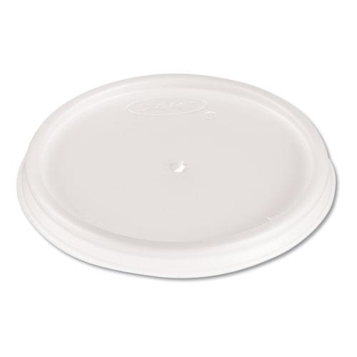 Plastic Lids, 4oz Cups, Translucent, 100/Sleeve, 10 Sleeves/Carton
