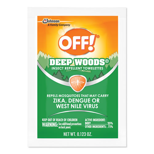 OFF!® Deep Woods Towelettes, 12/Box, 12 Boxes per Carton
