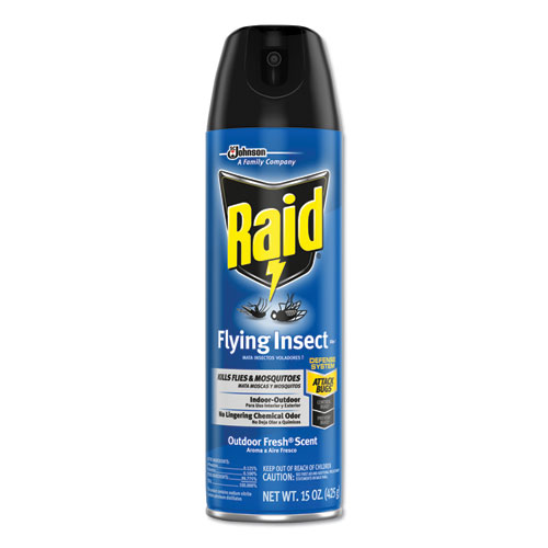 Raid® Flying Insect Killer, 15 oz Aerosol, 12/Carton