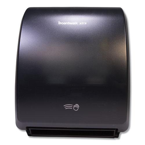 Xtra Electronic Hand Towel Dispenser, 12.31 x 9.31 x 15.94, Black