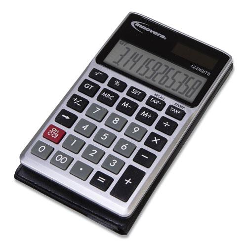 15922 Pocket Calculator, Dual Power, 12-Digit LCD Display
