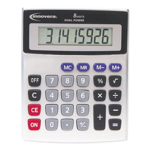 15927 Desktop Calculator Dual Power 8 Digit Lcd Display