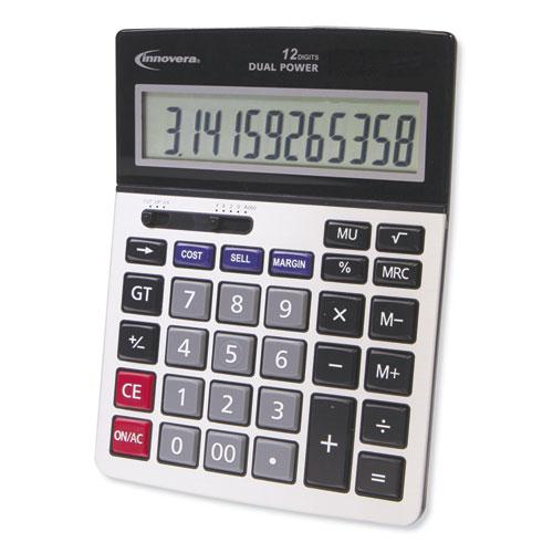 15968 Profit Analyzer Calculator, Dual Power, 12-Digit LCD Display
