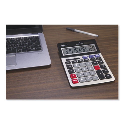 15975 Large Display Calculator Dual Power 12 Digit Lcd
