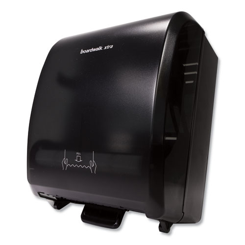 Xtra Mechanical Hands-Free Towel Dispenser, 12.31 x 9.31 x 15.94, Black