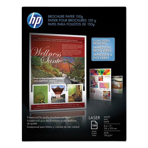 Laser Matte Brochure Paper, 112 Bright, 40lb, 8.5 x 11, White, 150/Pack