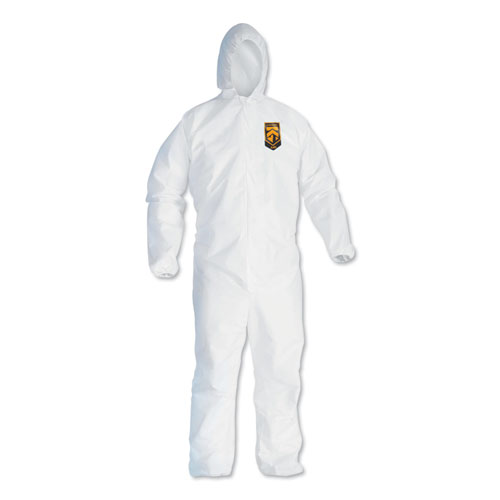 A40 Elastic-Cuff and Ankles Hooded Coveralls, White, 2X-Large, 25/Case