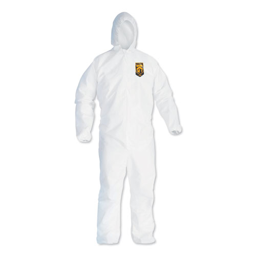 A40 Elastic-Cuff and Ankles Hooded Coveralls, White, X-Large, 25/Case