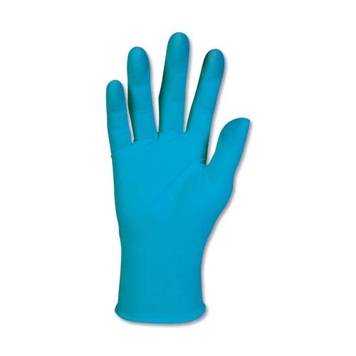 G10 Blue Nitrile Gloves, Powder-Free, Blue, 242 mm Length, X-Large, 90/Box | by Plexsupply