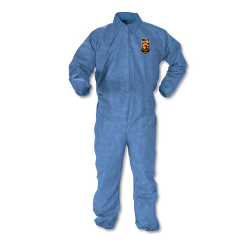 A60 Elastic-Cuff, Ankle  Back Coveralls, Blue, Large, 24/Case