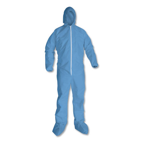 A65 Hood  Boot Flame-Resistant Coveralls, Blue, 2X-Large, 25/Carton