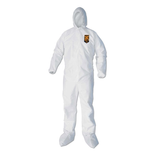 A40 Elastic-Cuff, Ankle, Hood and Boot Coveralls, X-Large, White, 25/Carton