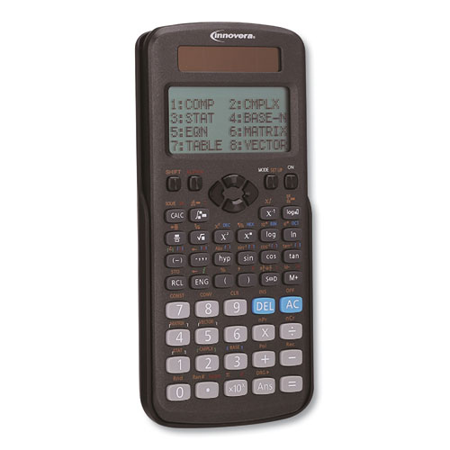 Innovera® Advanced Scientific Calculator, 417 Functions, 15-Digit LCD, Four Display Lines