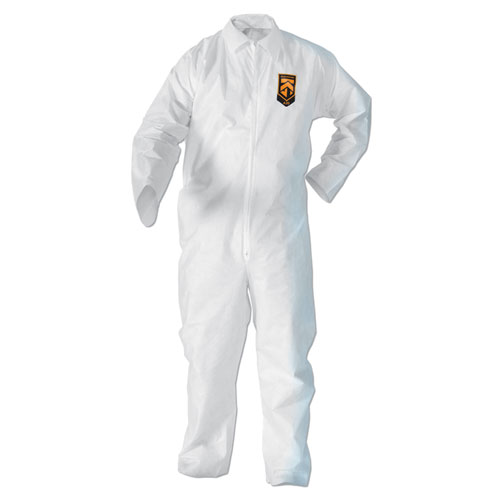 A20 Breathable Particle-Pro Coveralls, Zip, 2X-Large, White, 24/Carton | by Plexsupply