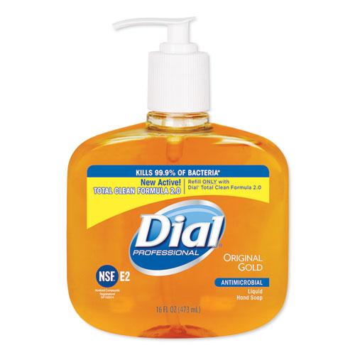 Gold Antibacterial Liquid Hand Soap, Floral, 16 oz Pump, 12/Carton