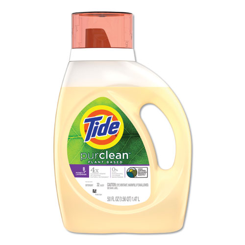 Tide® PurClean Liquid Laundry Detergent, Honey Lavender, 50 oz Bottle, 6/Carton