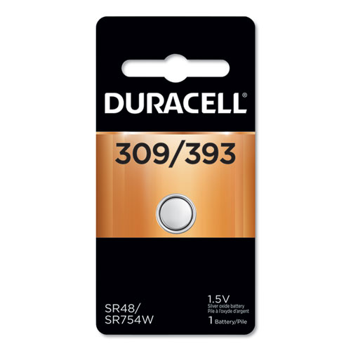 Duracell® Button Cell Battery, 303/357, 1.5V, 6/Box