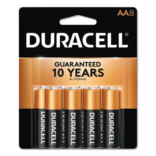 Duracell® CopperTop Alkaline AA Batteries, 8/Pack