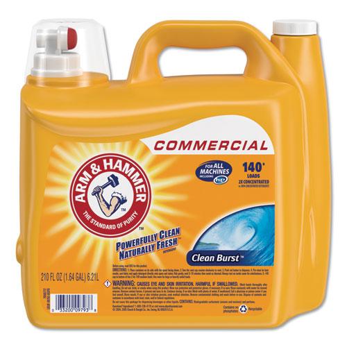 Arm & Hammer™ Dual HE Clean-Burst Liquid Laundry Detergent, 210oz Bottle
