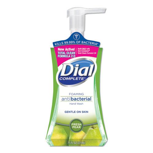 Dial® Antibacterial Foaming Hand Wash, Fresh Pear, 7.5 oz Pump Bottle
