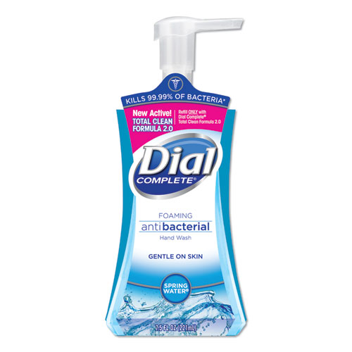 Dial® Antibacterial Foaming Hand Wash, Spring Water, 7.5 oz