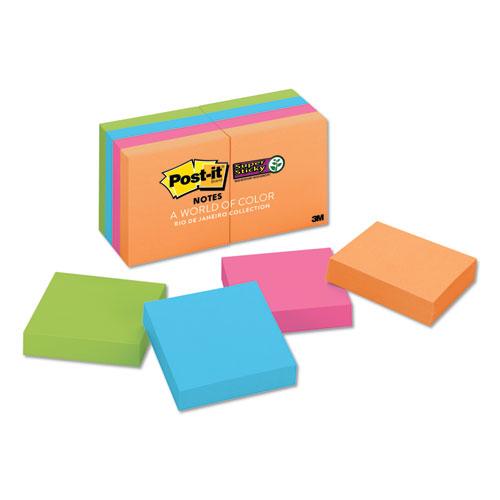 Pads in Rio de Janeiro Colors, 2 x 2, 90-Sheet Pads, 8/Pack