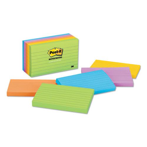 Original Pads in Jaipur Colors, 3 x 5, Lined, 100-Sheet, 5/Pack