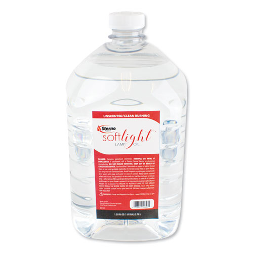 Soft Light Liquid Wax Lamp Oil Clear Gallon 4 Per