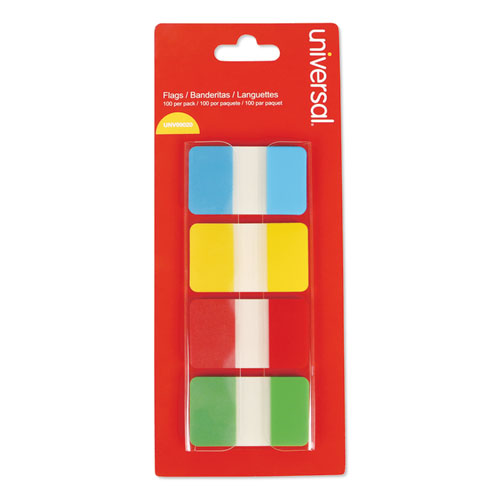 Self Stick Index Tab, 1, Assorted Colors, 100/Pack