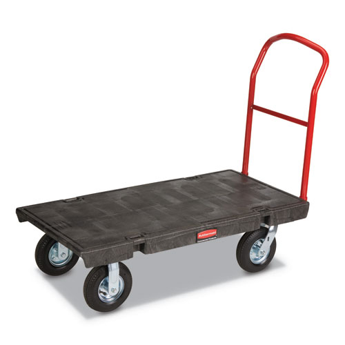 Heavy-Duty Platform Truck Cart, 1,200 lb Capacity, 24 x 48 Platform, Black | by Plexsupply