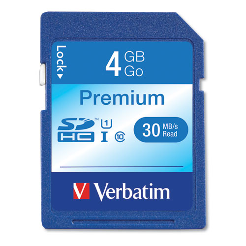 4GB Premium SDHC Memory Card, UHS-I U1 Class 10, Up to 30MB/s Read Speed