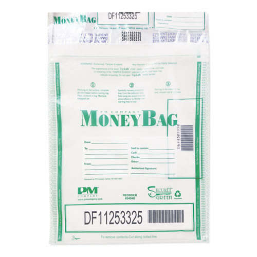 Triple Protection Tamper-Evident Deposit Bags, 9 x 12, Clear, 100/Pack