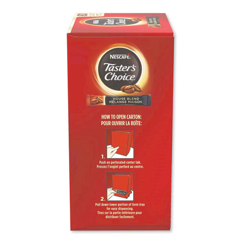 Taster's Choice Stick Pack, House Blend, 80/Box | by Plexsupply