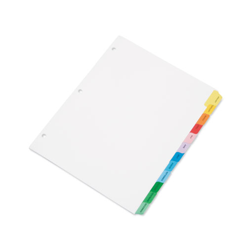 7530013683490 SKILCRAFT Multiple Index Sheets, 12-Tab, Jan. to Dec., 11 x 8.5, White, 1 Set