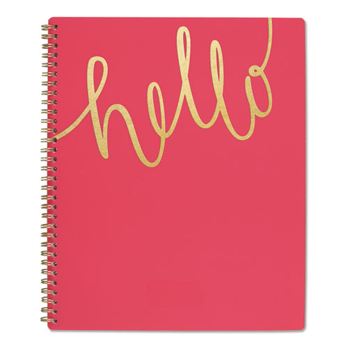 AT-A-GLANCE® Aspire Academic Planner, 11 x 8 1/2, Coral/Gold, 2019-2020