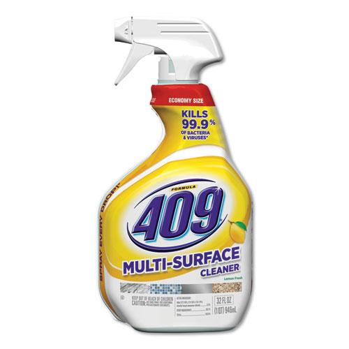 Multi-Surface Cleaner, 32 oz Spray Bottle, Lemon, 9/Carton