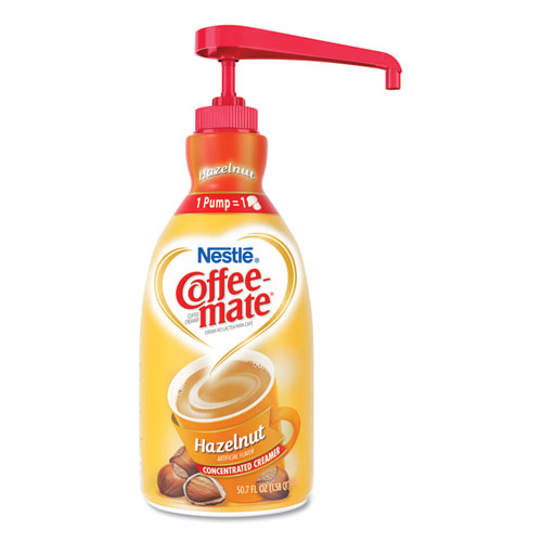 Liquid Coffee Creamer, Hazelnut, 1500mL Pump Bottle | by Plexsupply