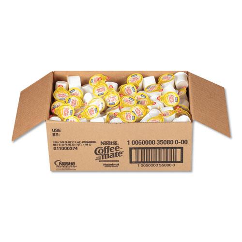 Liquid Coffee Creamer, Hazelnut, 0.38 oz Mini Cups, 180/Carton | by Plexsupply