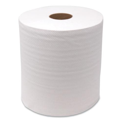 """GEN Hardwound Roll Towels, White, 8"""" x 350 ft, 12 Rolls/Carton"""